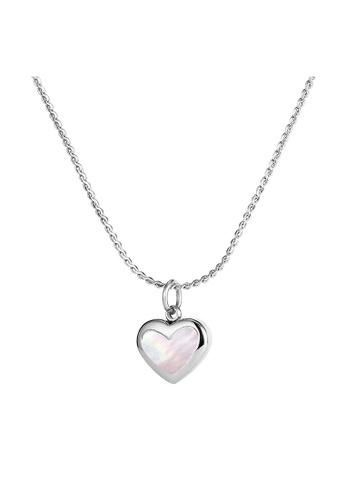 YOUNIQ silver YOUNIQ LUNA Heart Silver Titanium Steel Love Necklace 1D412AC7A2769CGS_1