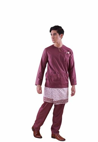 I Am Famous purple Asytar Baju Melayu with Sampin A48E9AA60C8EDBGS_1