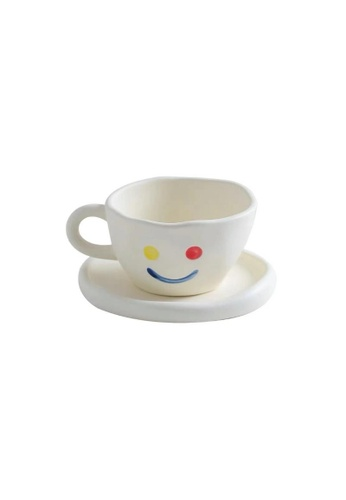 DILAS HOME Smiley Face Cup with Saucer 0007EHLCBF5BDAGS_1