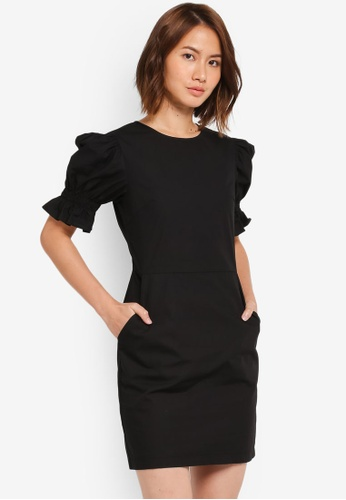 ZALORA black Scooped Neck Dress 5DD92AAB2E5083GS_1