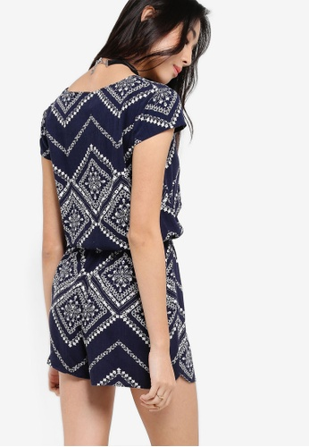 a67a843c64d Buy ZALORA Love Button Front Playsuit With Cap Sleeves Online on ZALORA  Singapore
