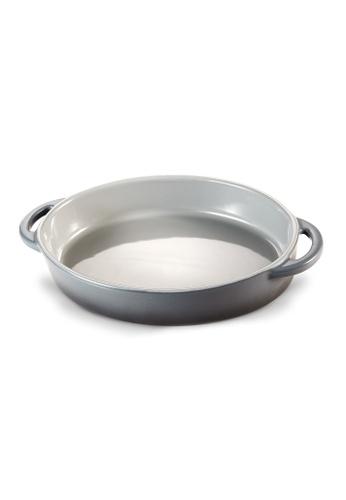 Slique grey Premium Stoneware Oval Baking Dish 1400ml 4D5F1HL9AFA4B0GS_1