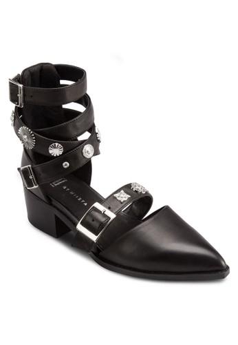 Uma 金飾產繞踝帶尖頭涼鞋, 韓系時尚,esprit 台中 梳妝