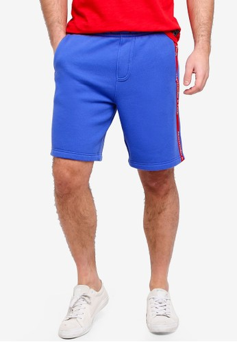 Abercrombie & Fitch blue Logo Shorts A0694AAA33033AGS_1