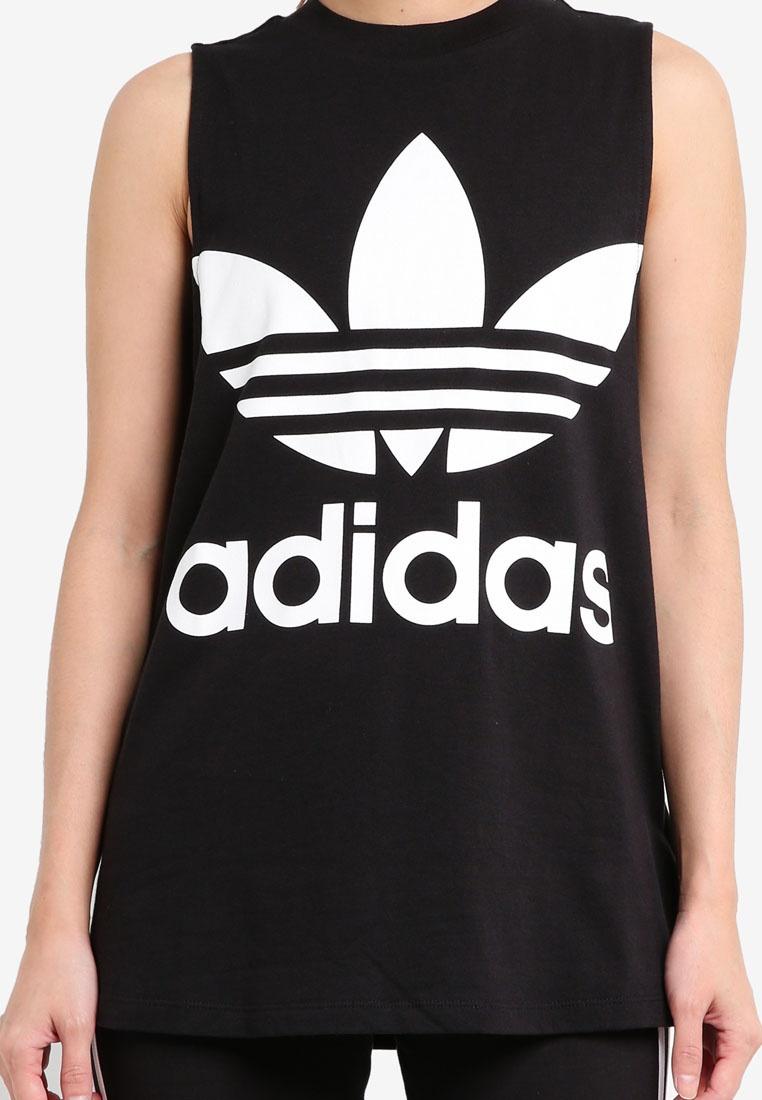 adidas adidas trefoil Black tank originals ZAFqA14wd