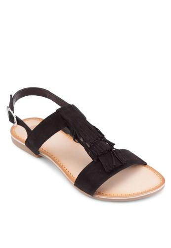 Adroit 流蘇T 字帶涼鞋zalora taiwan 時尚購物網, 女鞋, 鞋