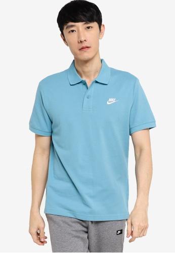 Nike blue Men's Sportswear Short Sleeve Polo 2AF9DAA18B2104GS_1