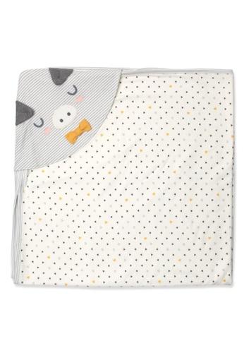 Organic mom beige Blushed Piggy Swaddling Blanket (FALL) 894A4KC32D8532GS_1