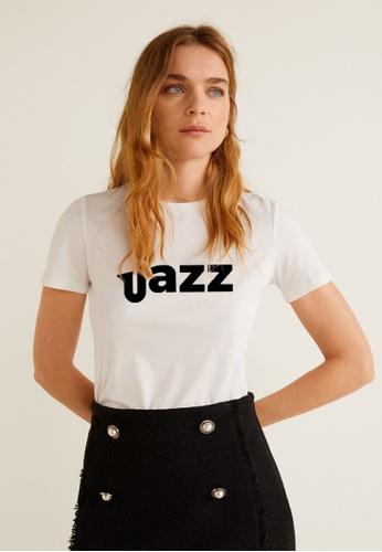 Greatvalueplus white Jazz  Women's Round Neck Printed T-shirt EEAB1AAC786173GS_1