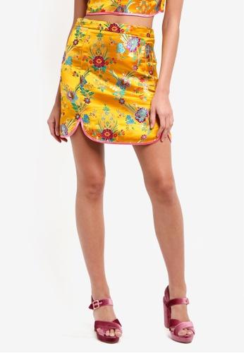 Glamorous yellow Ladies Skirt B972EAA252A0C3GS_1