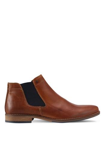 Dune London brown Plain Toe Chelsea Boots DU588SH0SZS1MY_1