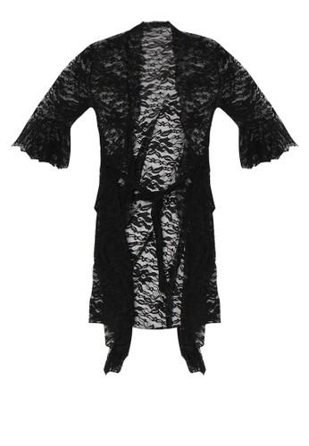 LAVABRA Intimates black Sweet Lingerie -  Claudia French Full Lace Elegant Kimono LA387US13SNMID_1