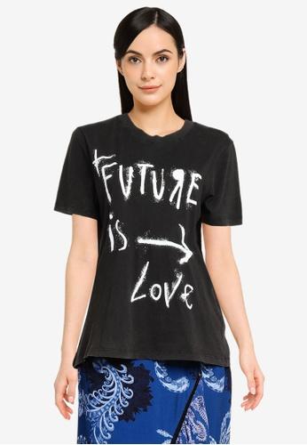 Desigual grey Short Sleeves Messages T-shirt 7A220AAD7202D0GS_1