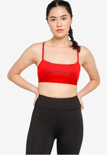 Calvin Klein red Core Low Support Bra - Calvin Klein Performance E6D27USBAE6796GS_1