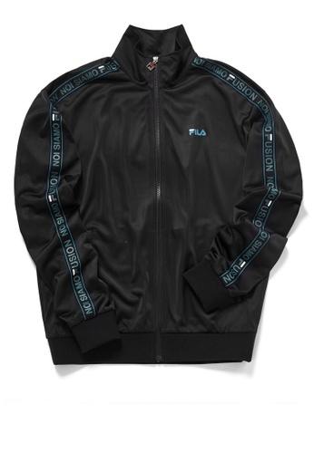 FILA black FUSION FILA Logo Side Taped Jacket 870C9AA59B4802GS_1