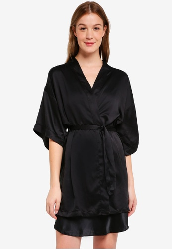 Cotton On Body black Kimono Gown 08341AA8B671EEGS_1