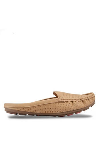 Noveni beige Weekend Moccasins NO978SH17DPAMY_1