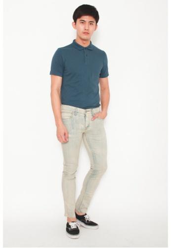 9eedbfd359a Buy DENIZEN Men Skinny Denim Jeans White Marble Online