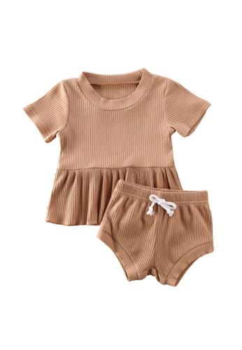 RAISING LITTLE brown Anicka Outfit Set A7ACBKADB45C07GS_1