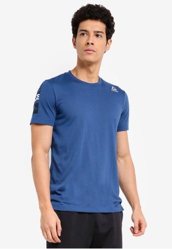 Reebok blue Les Mills Dual Blend Tee RE691AA0SVXXMY_1