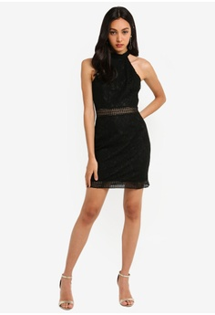 c6d3606ced0 MISSGUIDED 90S Neck Lace Mini Dress S  61.90. Sizes 6 8 10 12 14