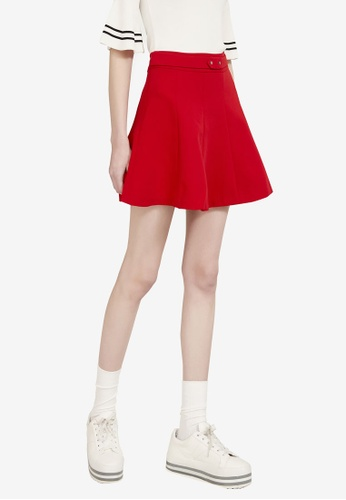 Hopeshow red Overlap Mini Skirt B0907AA496C6BAGS_1