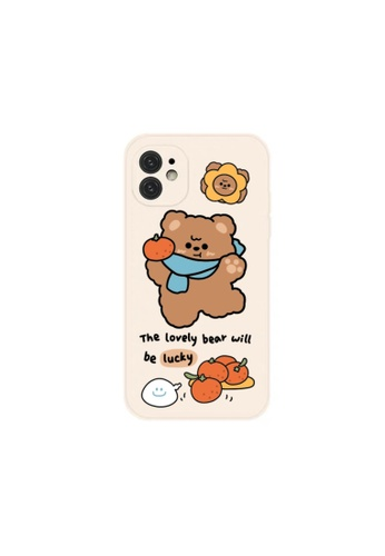 Kings Collection white Cute Bear iPhone 12 Pro Case F7407ACB80741CGS_1