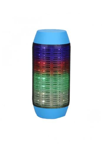 Latest Gadget blue Pulse Wireless Bluetooth LED Speaker LA734AC40TDZPH_1