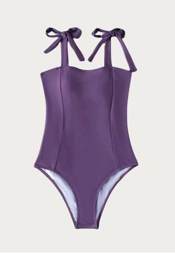 Bluepalm purple Sibay in Purple One Piece Swimsuit BBC40USD239A95GS_1