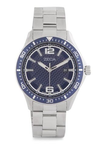 ZECA silver Zeca Watches Men Fashion Stainless Steel Analog - 2014MA Silver Blue ZE074AC0WDAQID_1