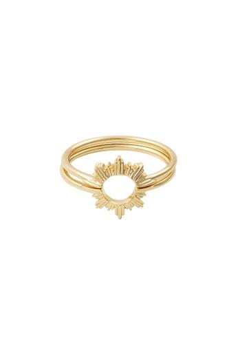 Wanderlust + Co 金色 Sunseeker Gold Ring Set 89A64ACA463A4EGS_1
