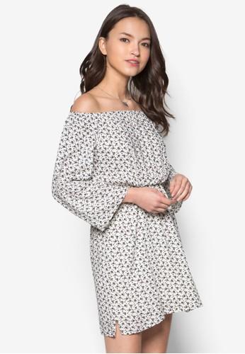Lozalora 心得ve Boho Off Shoulder Mini Dress, 服飾, 洋裝