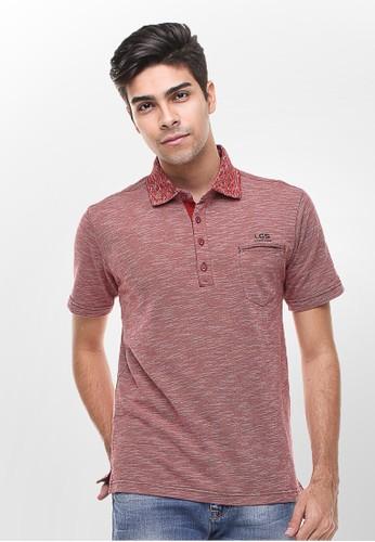 LGS red LGS - Regular Fit - Kaos Polo - Warna Motif - Merah LG695AA54ZWVID_1