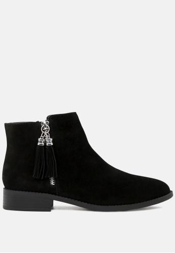Rag & CO. black Ankle Length Boots with Tassel Zipper RCSH1783 4D947SH728CEC0GS_1
