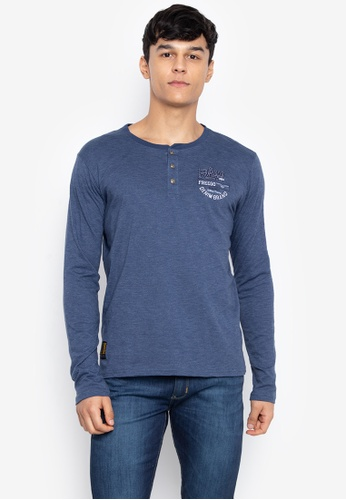 4ebd913cacdd8 Shop Freego Button Down Long Sleeve Tee Cotton T-Shirt Online on ZALORA  Philippines