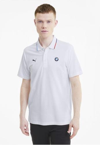 PUMA white BMW M Motorsport Men's Polo Shirt 8E05CAA98A41A8GS_1