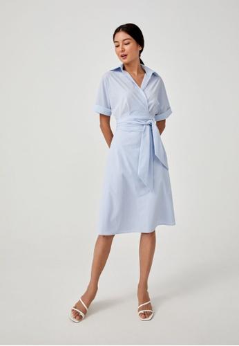 Love, Bonito blue Baylie Midaxi Wrap Dress 6C1BCAAB083AC9GS_1