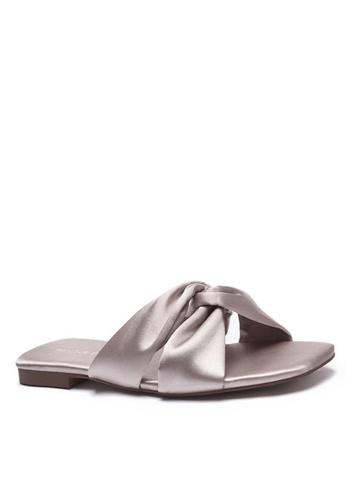 Twenty Eight Shoes Satin Bow Slippers 101-13 029E5SH375FB38GS_1