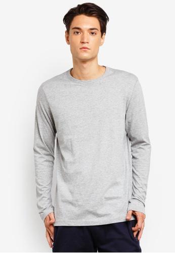 Brave Soul 灰色 Long Sleeve Crew Neck T-Shirt 3B5C8AA001E642GS_1