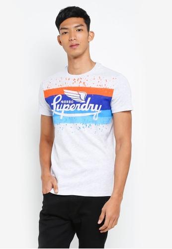 Superdry 銀色 短袖印花T恤 CF5EFAA721CE18GS_1