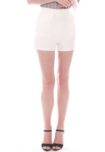 JOVET white Gold Zip Shorts 6F4B8AA0421AE0GS_1