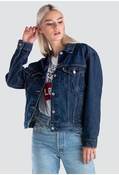 a02abd35 Levi's blue Levi's x Peanuts Ex-Boyfriend Trucker Jacket Women 29944-0064  91348AA4F2B9E4GS_1