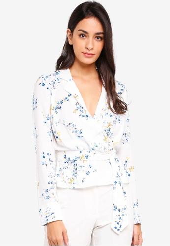 Miss Selfridge white and multi Floral Wrap Pj Top A64EEAA7543091GS_1
