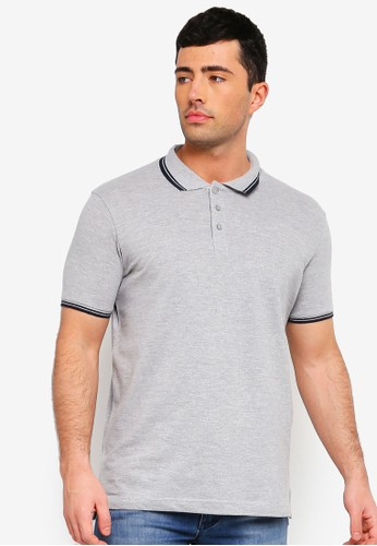Brave Soul multi and grey Button Down Polo Shirt 8551CAA4249C22GS_1