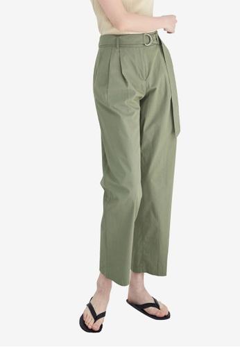 NAIN green D-Ring Cropped Pants 566D1AA49A5F8DGS_1