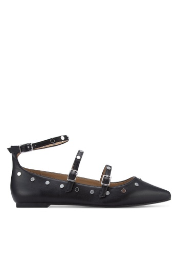 TOPSHOP black Arabelle Studded Flats TO412SH58ERXMY_1