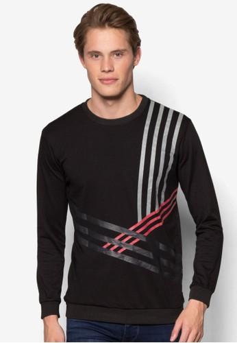 塗面條紋運動長袖衫,esprit outlet 高雄 服飾, 外套