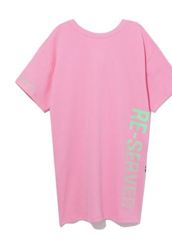 izzue pink Reserved tshirt dress 866B9AA50CD84FGS_1