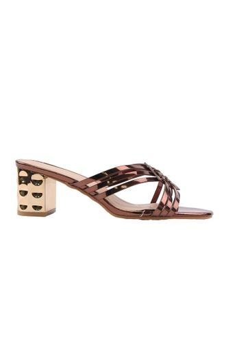 Alfio Raldo gold Alfio Raldo Multi Strap Heels D9023SH394219DGS_1