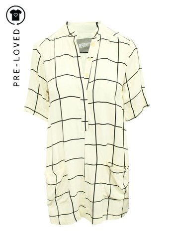 Reformation beige Pre-Loved reformation Black and White Shirt Dress 55813AAA8D6C51GS_1